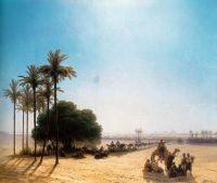 Караван в оазисе, Египет