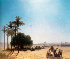 Айвазовский Иван Караван в оазисе, Египет