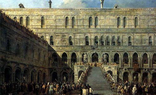 Коронация дожа на Лестнице гигантов во Дворце дожей - изображение 1