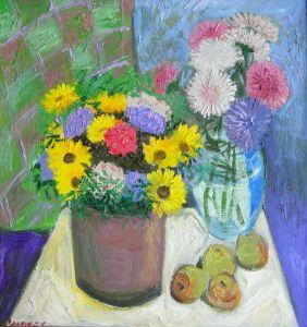 Сыпняк Петр Цветы в двух вазах