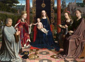 Герард Давид Мадонна з немовлям і зі святими