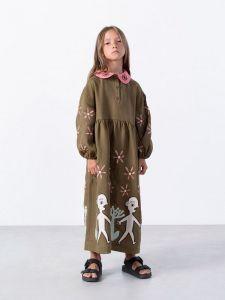 Вышиванки детские Вышитое платье с аппликацией Kolo Night