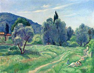 Оливковые деревья пополудни в Каннах