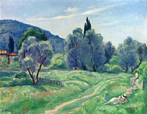 Оливковые деревья пополудни в Каннах - изображение 1