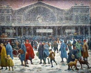 Восточный вокзал в снегу