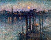 Порт в Лондоне ночью