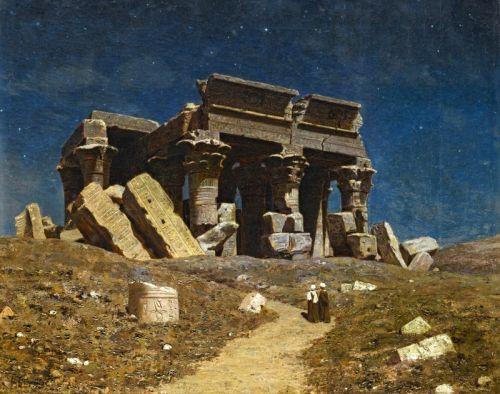 Разрушенный храм Ком Омбо, Египет