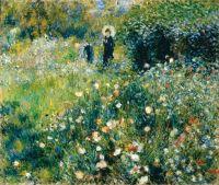 Женщина с зонтиком в саду