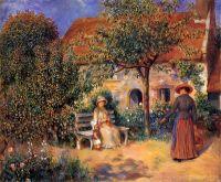 Садовая сцена в Бретани