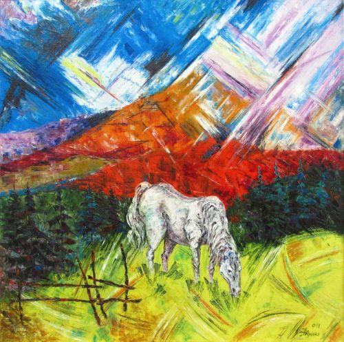 Ой на горе на высокой, сивый конь пасеси...