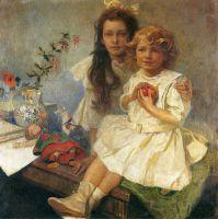 Ярослава и Иржи-дети художника