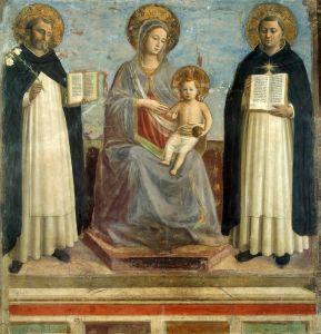 Мадонна с младенцем со Св Домиником и Фомой Аквинским
