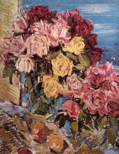 Троянди на фоні моря