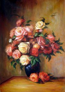 Ренуар Огюст Букет троянд