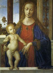 Перуджино Пьетро Мадонна с младенцем 2