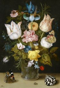 Босхарт Амброзиус Букет цветов в стеклянной вазе