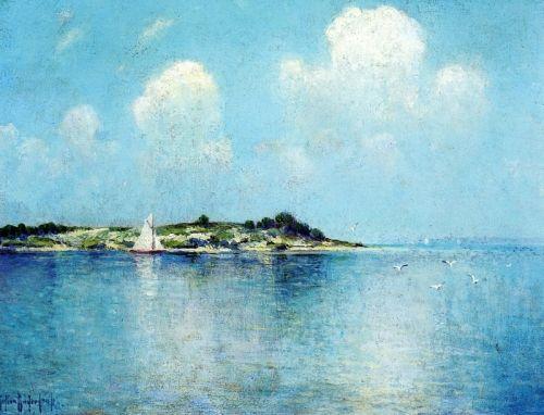 Пейзаж с островом