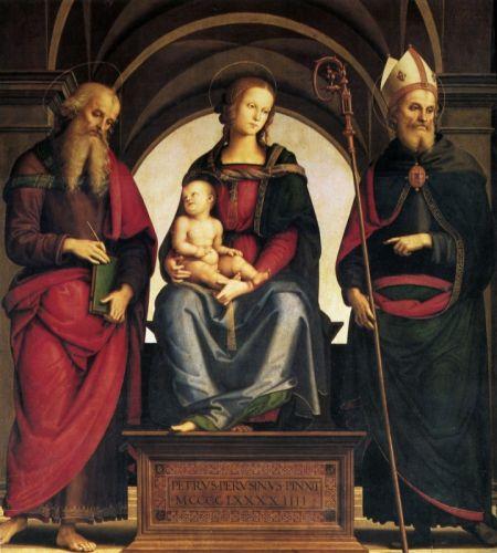 Мадонна на троне с младенцем между Св. Иоанном и Св. Августином