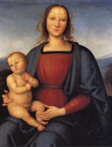 Перуджино Пьетро Мадонна с младенцем 3