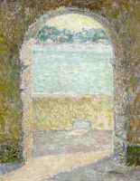 Вид на море через каменную арку, Вильфранш-сюр-Мер