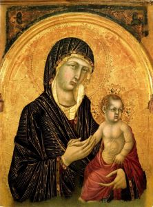Готика Мадонна с младенцем
