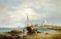 View of St Aubins Fort, St Aubins Bay, Jersey