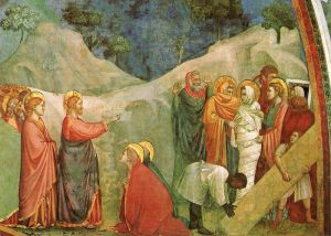 Джотто ди Бондоне Воскрешение Лазаря