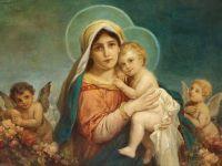 Мадонна с младенцем и ангелы