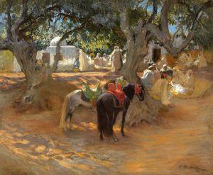 Бриджман Фредерик Артур Старое кафе возле Алжира