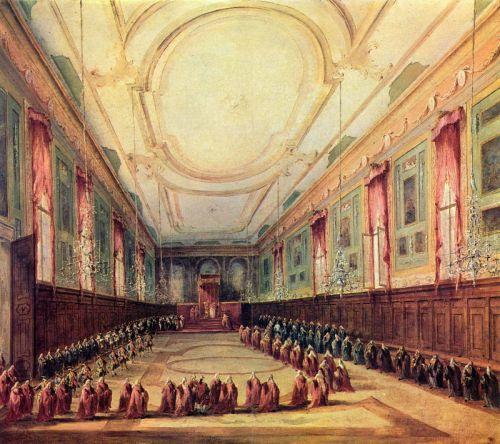 Дож на аудиенции у папы Пия VI