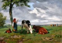 Пастушка с животными