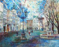 Ранняя весна. Львов. Площадь Рынок. Фонтан Диана
