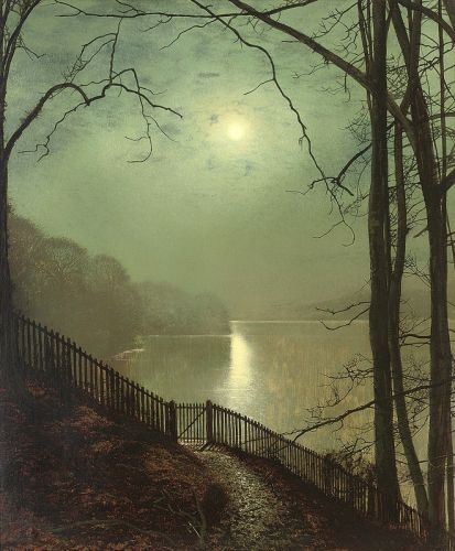 Лунный свет на озере Раундхей парка, Лидс - изображение 1