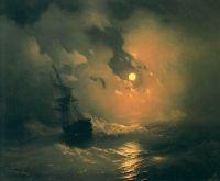 Буря на морі вночі