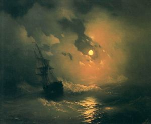Айвазовский Иван Буря на море ночью