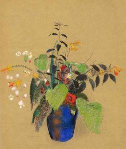 Редон Одилон Цветы в синем кувшине