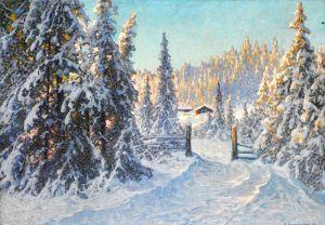 Шультцберг Ансельм Утро после снегопада, Филипстадс Бергслаг