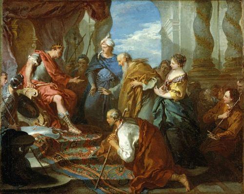 Иосиф представляет своего отца и своих братьев фараону