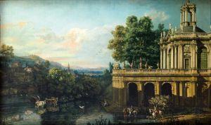 Рококо Архитектурный каприз с дворцом