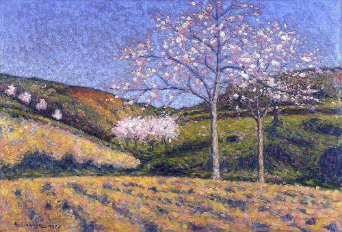 Миндальные деревья в цвету