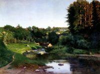 Село на березі річки