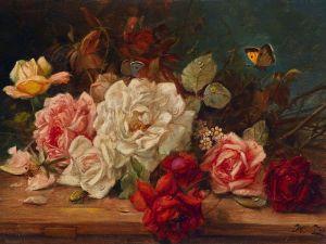 Зацка Ханс Розы и бабочки