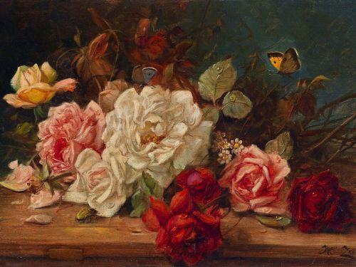 Розы и бабочки