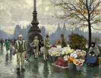Продавцы цветов у моста королевы Луизы в Копенгагене