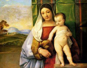 Вечеллио Тициан Цыганская Мадонна
