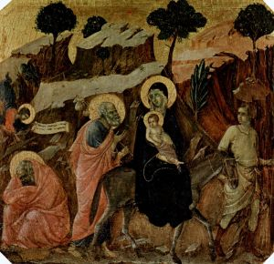 """Дуччо ди Буонинсенья """"Маэста"""" - Пределы со сценами из детства Иисуса"""