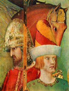 Мартини Симоне Saint martin devant lempereur dgtail fresque