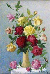Ложе Ашиль Ваза с розами