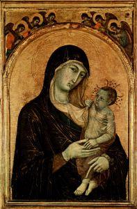 Дуччо ди Буонинсенья Мадонна с ангелом