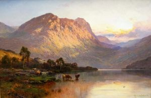 Брински Альфред де Loch Lomond and a Trout Stream near Stirling